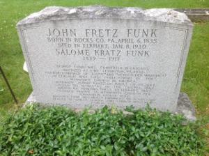 John Funk's headstone