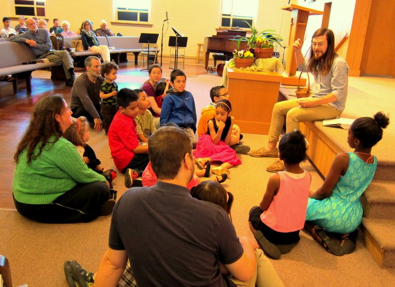 Children's time during the service